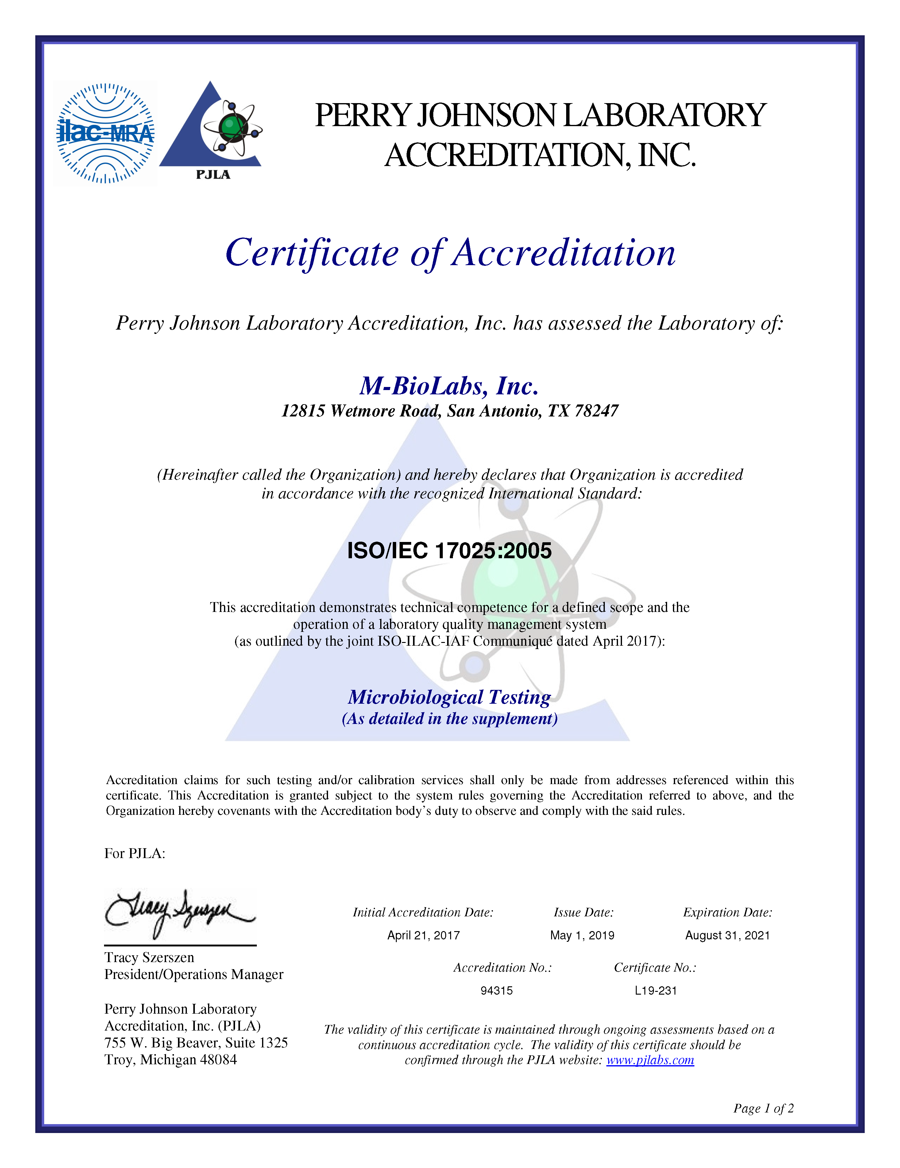 ISO 17025 Accredition